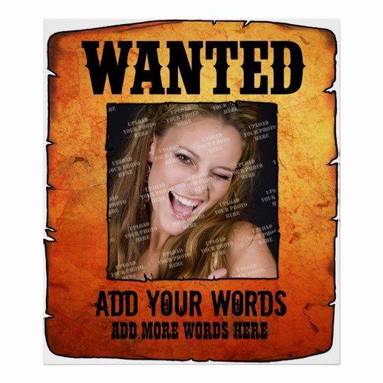 Wild West Wanted Posters Luxury Wild West Wanted Poster Personalised