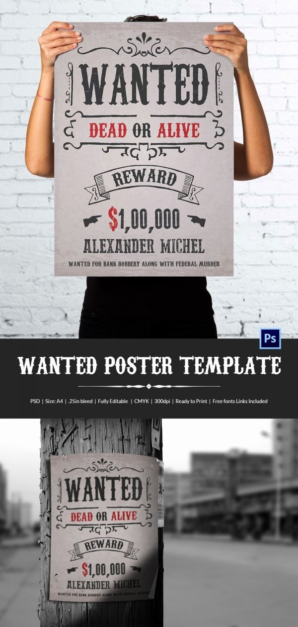 Wild West Wanted Posters Unique Wanted Poster Template 34 Free Printable Word Psd Illustration Indesign Excel Pub Pdf