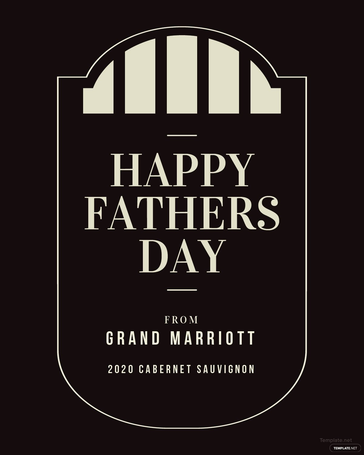 Wine Label Template Photoshop Awesome Free Fathers Day Wine Label Template In Psd Ms Word Publisher Illustrator Indesign Apple