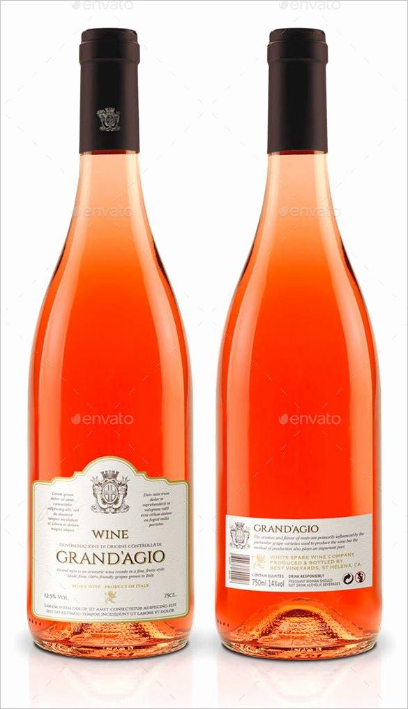 Wine Label Template Photoshop Elegant 35 Wine Label Templates