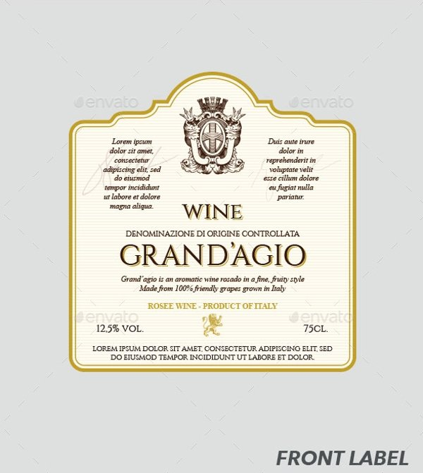 Wine Label Template Photoshop Fresh 13 Label Templates Free Sample Example format