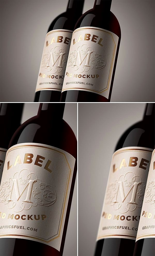 Wine Label Template Photoshop Luxury Free Wine Bottle Label Mockup Psd Antara S Diary Mockups Pinterest
