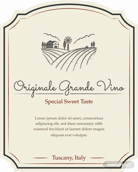 Wine Label Template Word Fresh Free Sample Wine Label Template Download 118 Labels In Illustrator