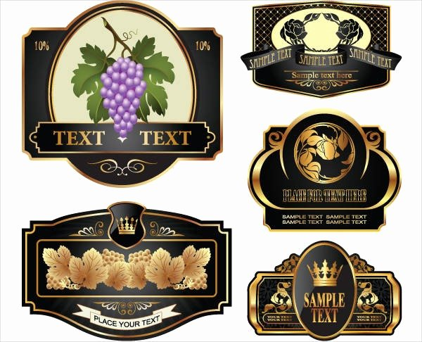 Wine Label Template Word Unique Wine Bottle Label Template