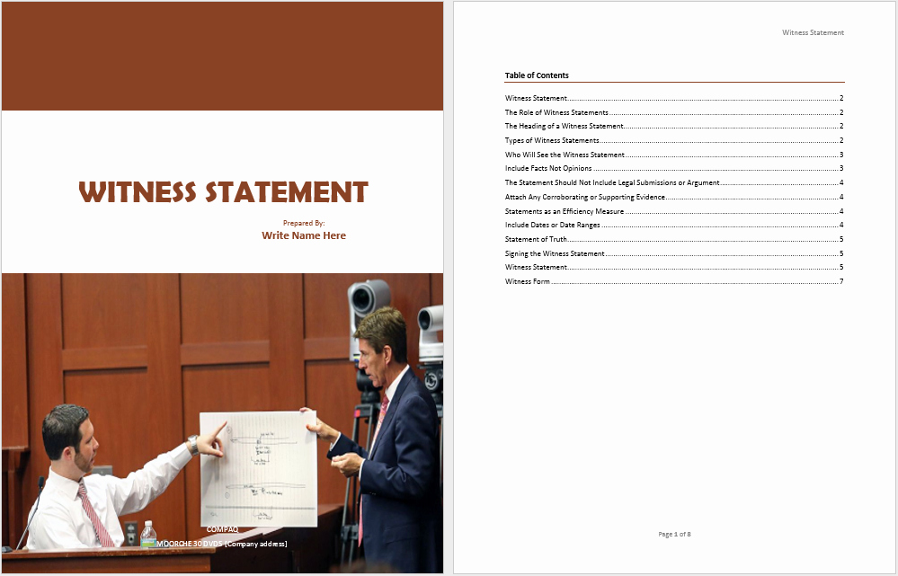 Witness Statement Template Word Fresh 19 Free Witness Statement Templates Ms Fice Documents