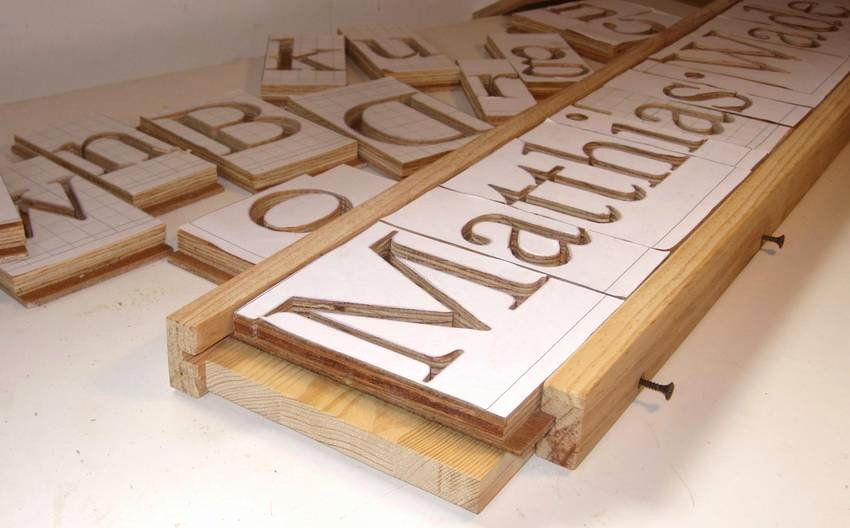 Wood Carving Letter Templates Beautiful Making 3d Letters with the Pantograph