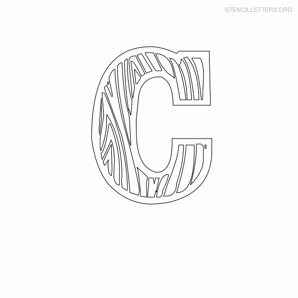 Wood Carving Letter Templates Elegant Stencil Letters C Printable Free C Stencils