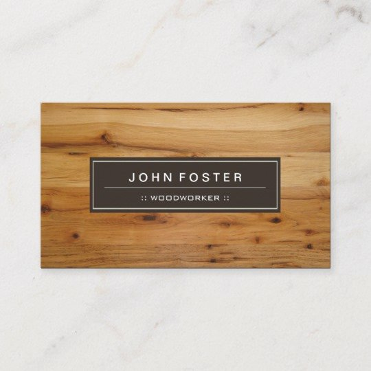 Wood Grain Business Cards Awesome Woodworker Border Wood Grain Business Card