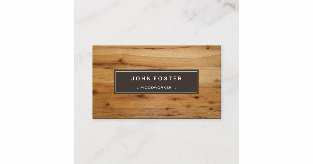 Wood Grain Business Cards Elegant Woodworker Border Wood Grain Business Card