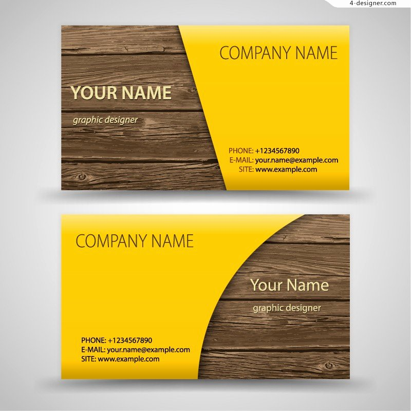 Wood Grain Business Cards Fresh 4 Designer