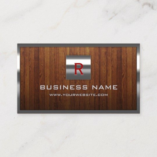 Wood Grain Business Cards Inspirational Woodworker Border Wood Grain Business Card