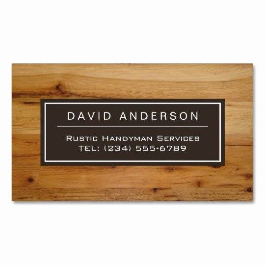 Wood Grain Business Cards Lovely Stylish Chic Wood Grain Woodgrain Look Magnetic Business Card