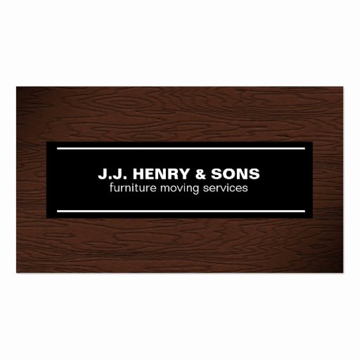 Wood Grain Business Cards Luxury Brown Wood Grain Business Card