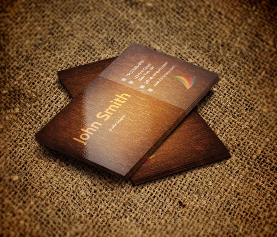 Wood Grain Business Cards Unique Css 2014 100 Free Business Cards Psd