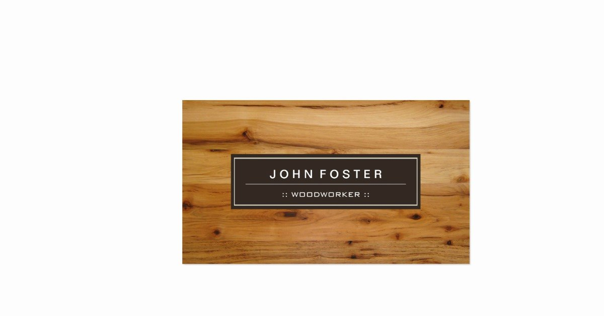 Wood Grain Business Cards Unique Woodworker Border Wood Grain Double Sided Standard Business Cards Pack 100