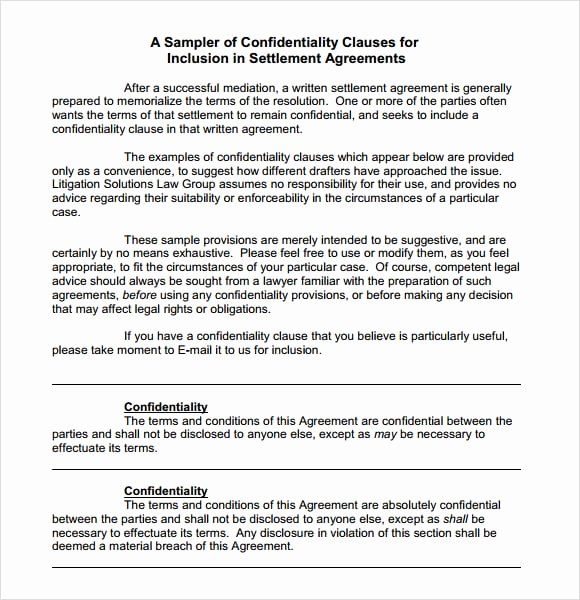 Word Employee Confidentiality Agreement Templates Elegant 7 Confidentiality Agreement Templates – Fine Word Templates