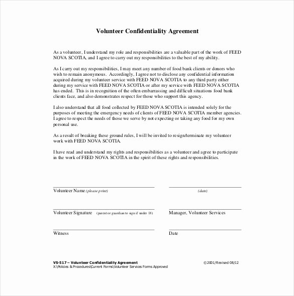 Word Employee Confidentiality Agreement Templates Inspirational 24 Confidentiality Agreement Templates Doc Pdf Apple