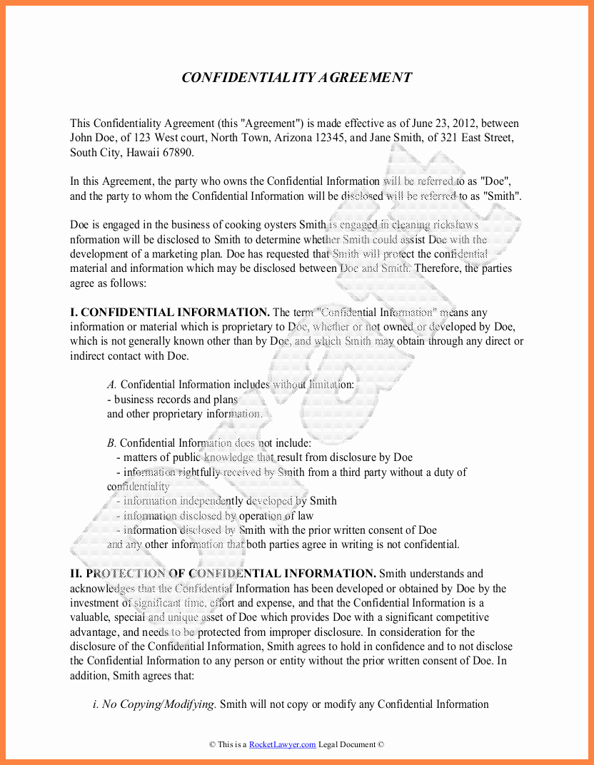 Word Employee Confidentiality Agreement Templates Lovely 7 Proprietary Information Agreement Template