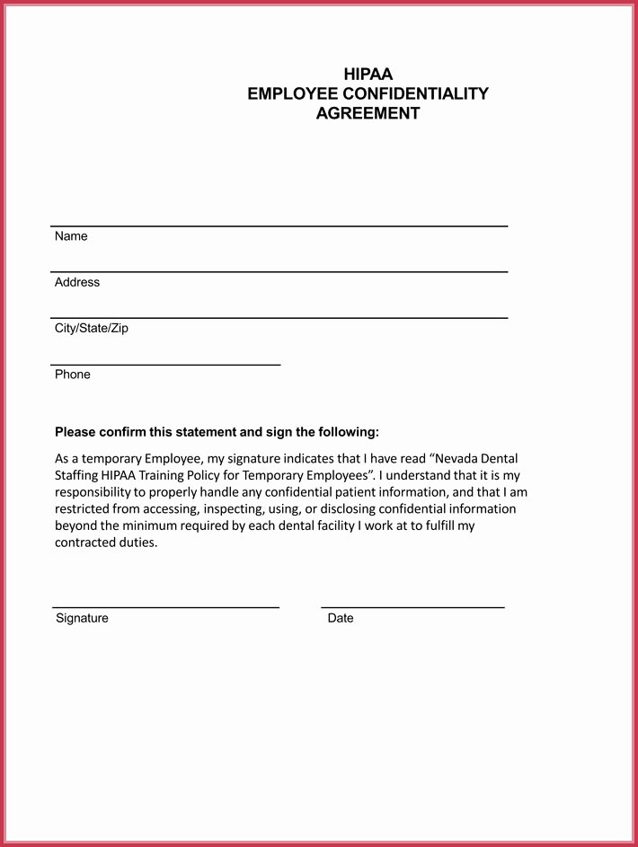 Word Employee Confidentiality Agreement Templates Luxury Employee Confidentiality Agreement 7 Best Professional Samples