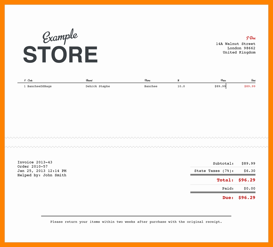 Work order Word Of Mastery Best Of 11 Electronic Receipts Template