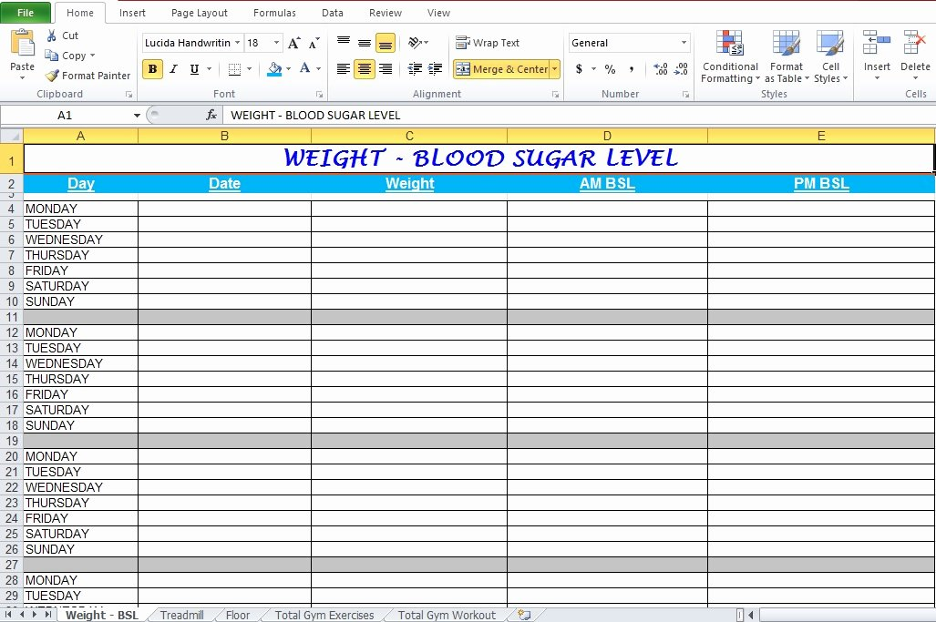 Workout Plan Template Excel Best Of Workout Log Template Excel