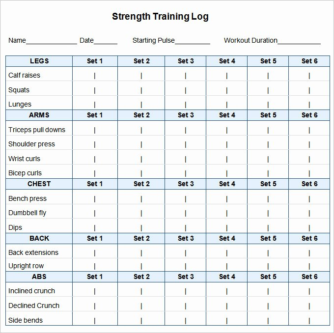 Workout Plan Template Excel Inspirational 24 Workout Schedule Templates Pdf Docs