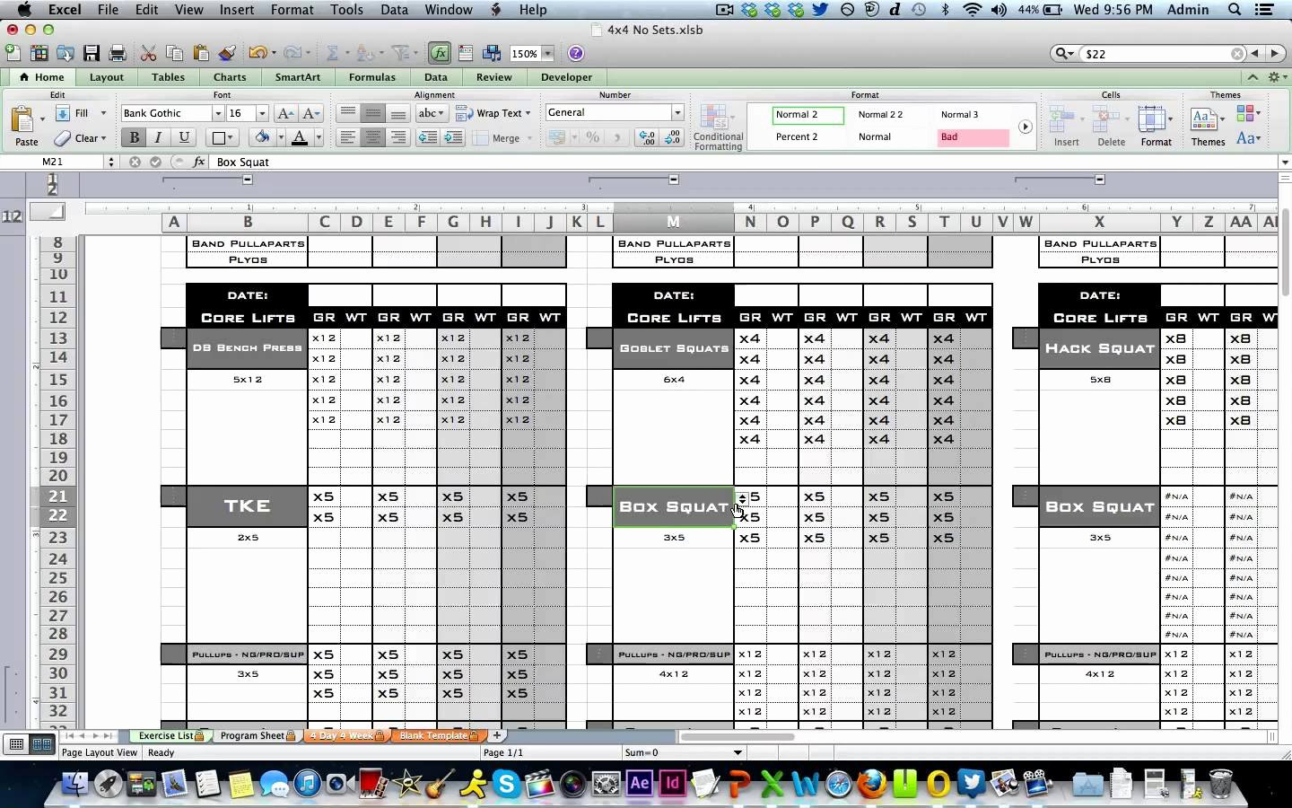 Workout Plan Template Excel Inspirational Workout Template Excel