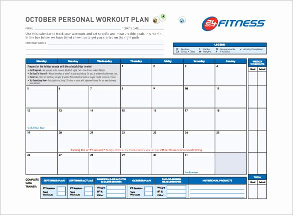 Workout Plan Template Excel Lovely Workout Schedule Template 8 Free Sample Example format Download