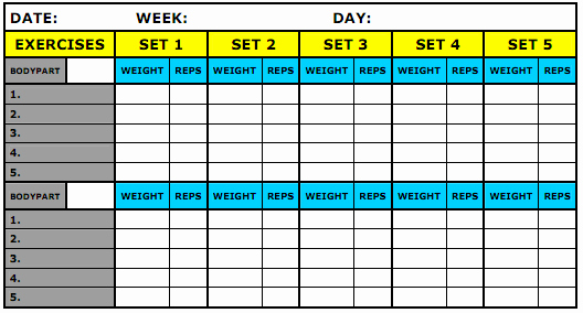 Workout Plan Template Excel New Pin by Joan Carter On Workout Life