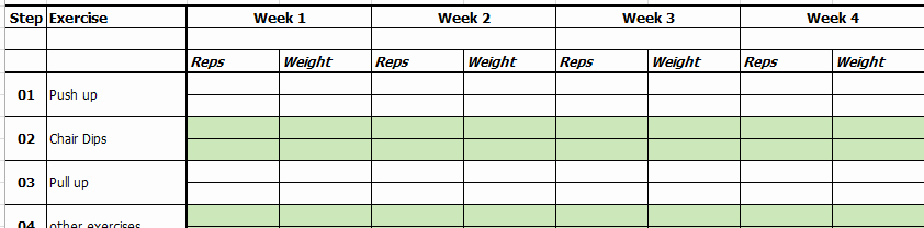 Workout Plan Template Excel Unique Excel Template Exercise and Workout Tracking Template by Excelmadeeasy
