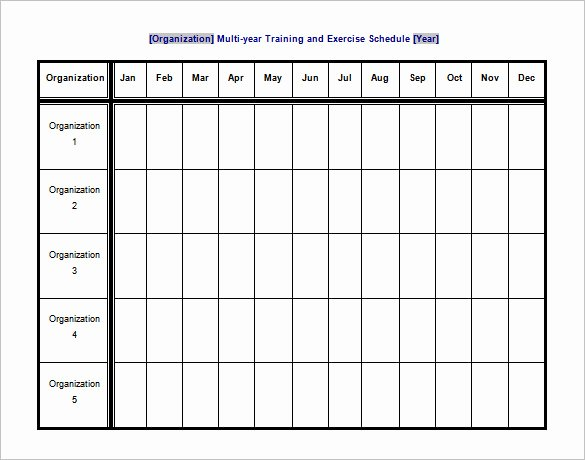 Workout Schedule Template Excel Best Of Exercise Schedule Template 7 Free Word Excel Pdf format Download