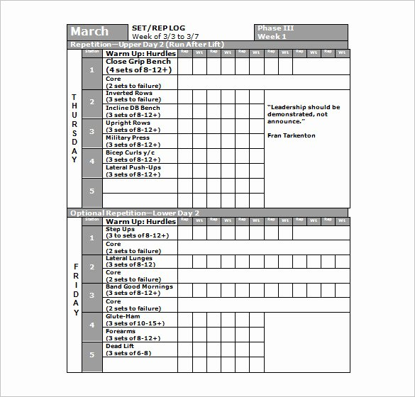 Workout Schedule Template Excel Fresh Workout Plan Template Excel – Planner Template Free