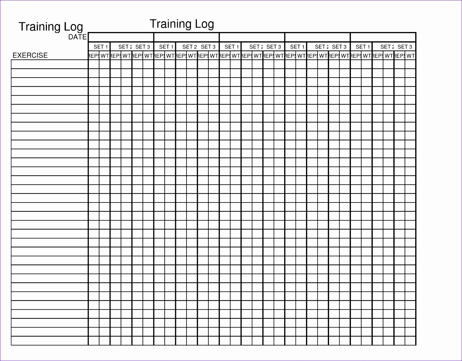 Workout Schedule Template Excel Lovely 9 Workout Spreadsheet Excel Template Exceltemplates Exceltemplates