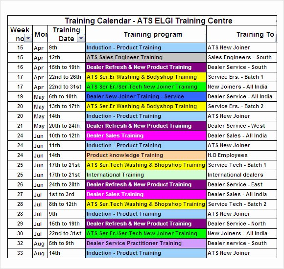 Workout Schedule Template Excel Lovely Free 21 Sample Training Calendar Templates In Google Docs Ms Word Pages