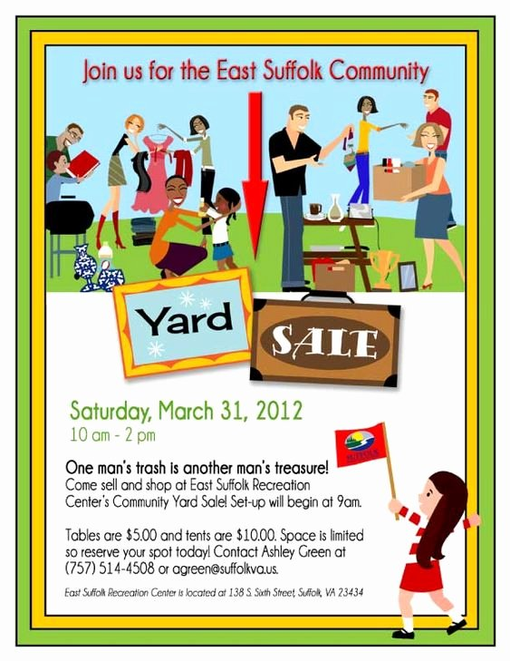Yard Sale Flyer Template Beautiful 14 Garage Sale Flyers 5 Hyde Park at Lake Wyndemere Pinterest