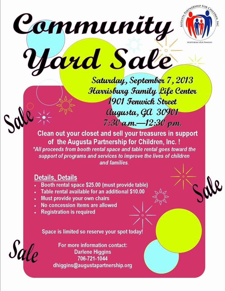 Yard Sale Flyer Template Elegant 19 Best Munity Yard Sale Images On Pinterest