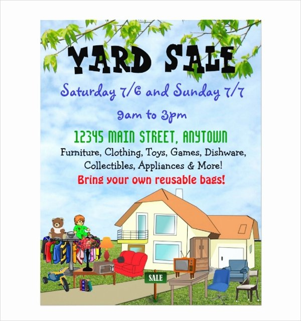 Yard Sale Flyer Template Elegant 27 Yard Sale Flyer Templates Psd Eps format Download