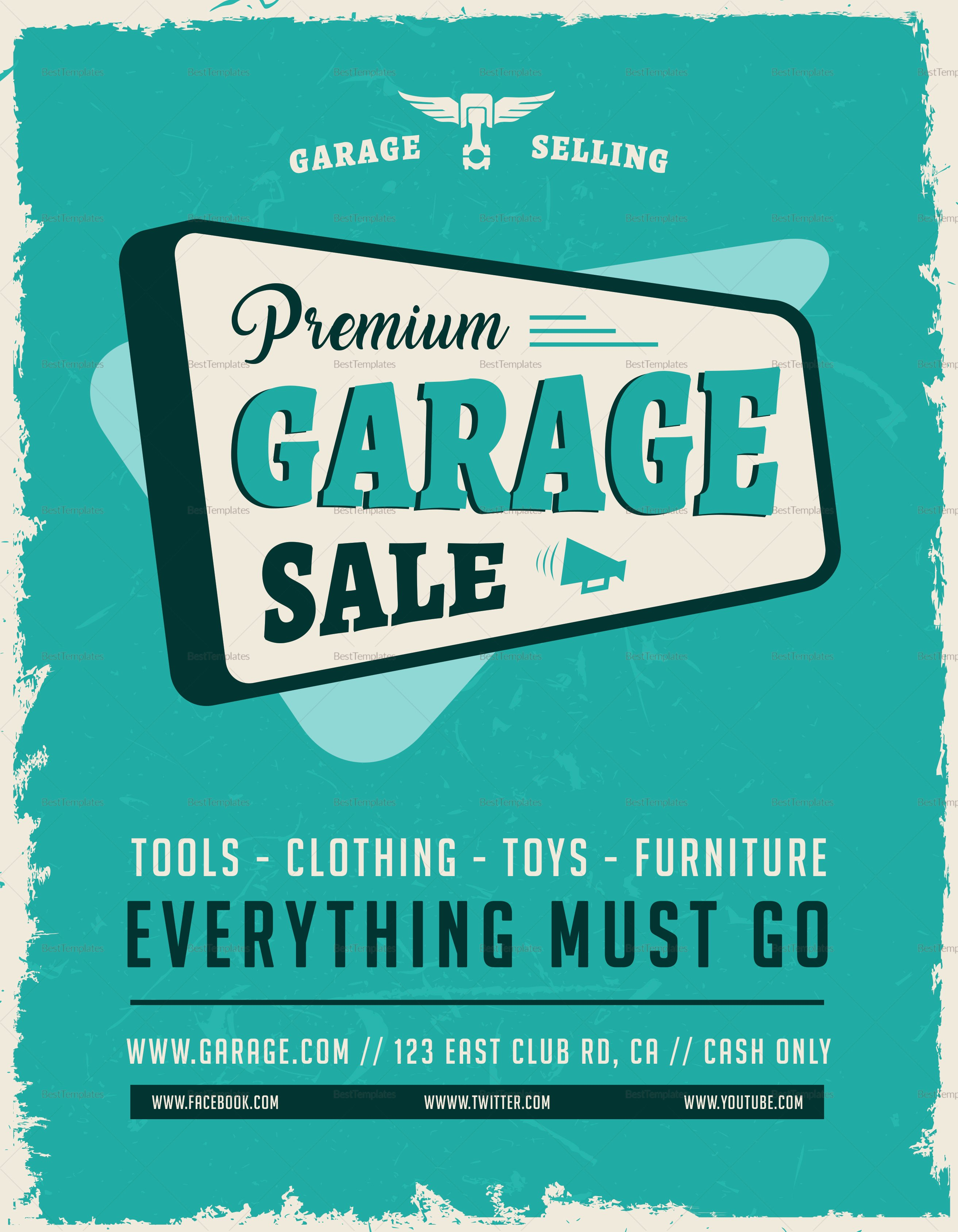 Yard Sale Flyer Template Fresh Garage Sale Flyer Design Template In Word Psd Publisher Illustrator