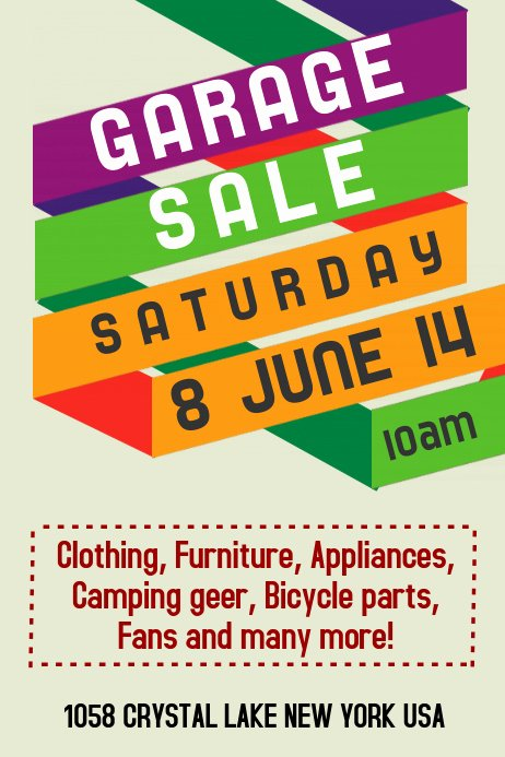 Yard Sale Flyer Template Fresh Garage Sale Flyer Templates