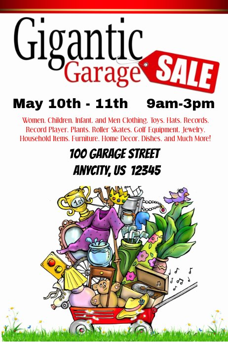 Yard Sale Flyer Template Luxury Gigantic Garage Sale Template