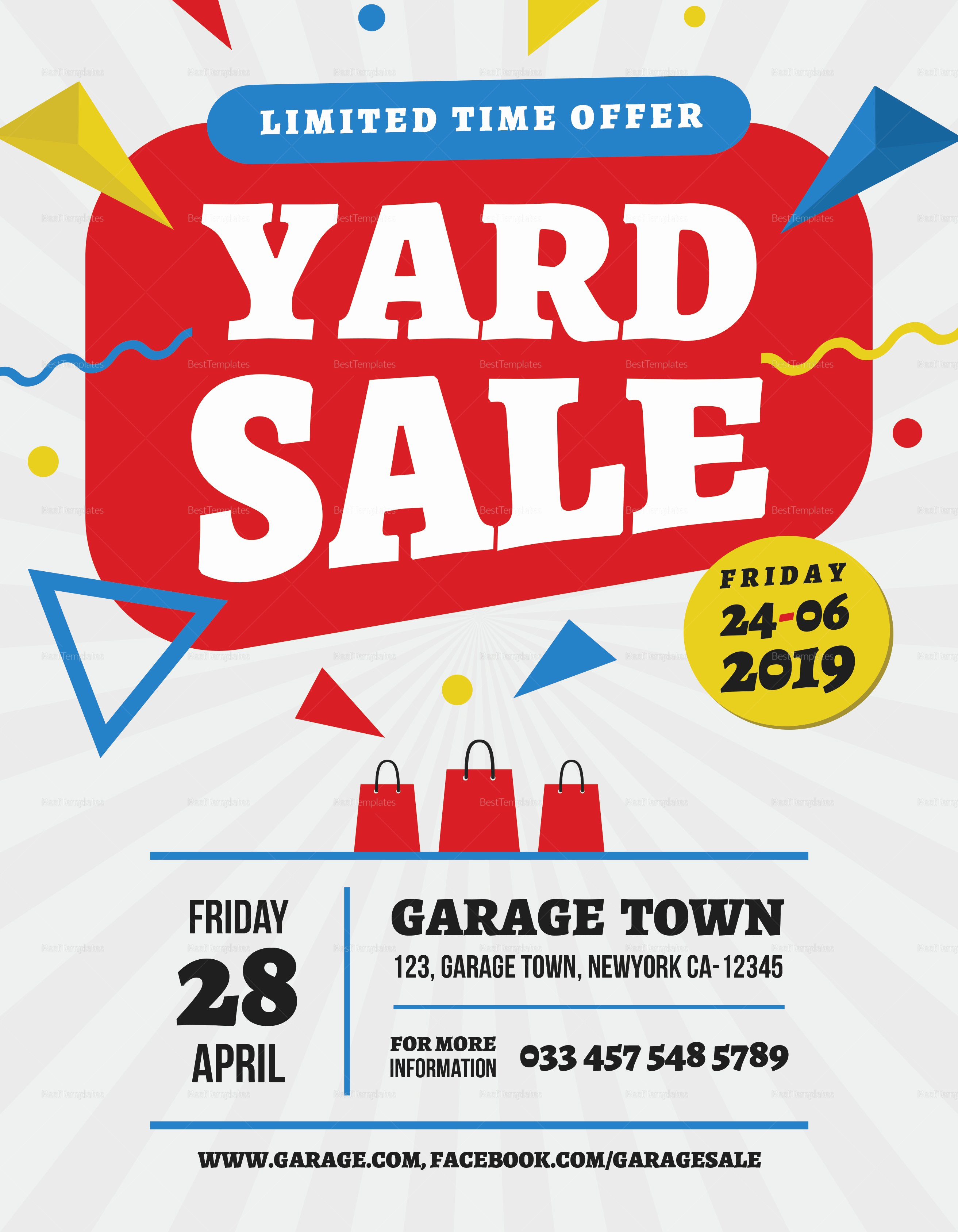 yard sale premium flyer