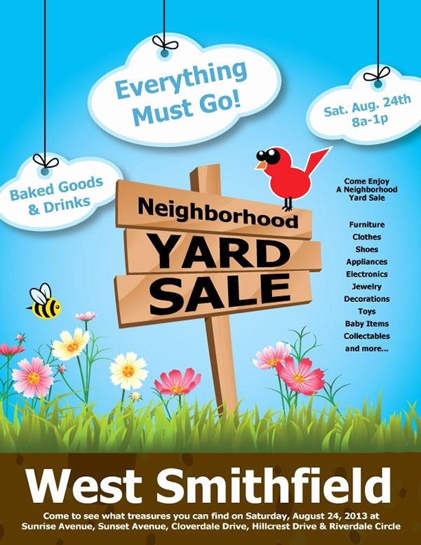 Yard Sale Flyer Template New 19 Best Munity Yard Sale Images On Pinterest