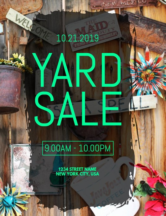 Yard Sale Flyer Template New Copy Of Yard Sale Flyer