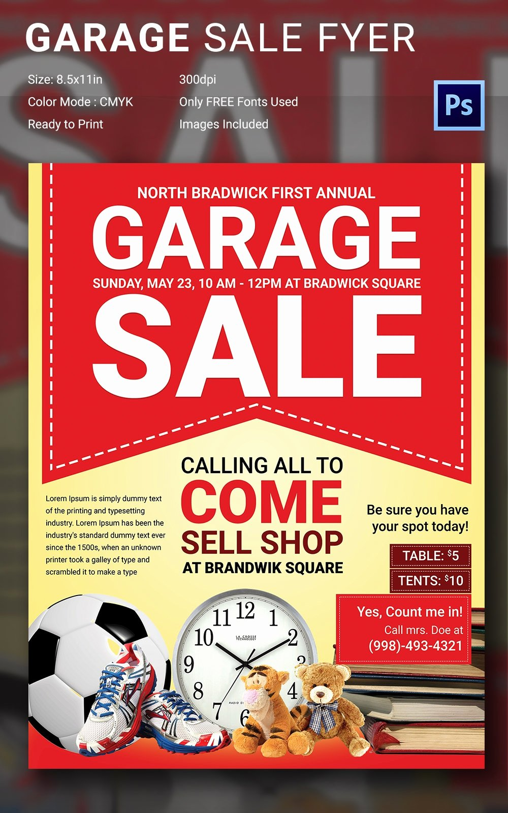 Yard Sale Flyer Template Unique 14 Best Yard Sale Flyer Templates & Psd Designs