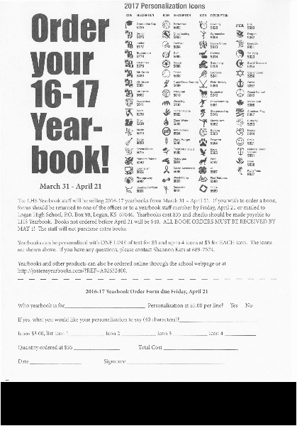 Yearbook order form Template Fresh Logan Usd 326 order Your Yearbooks