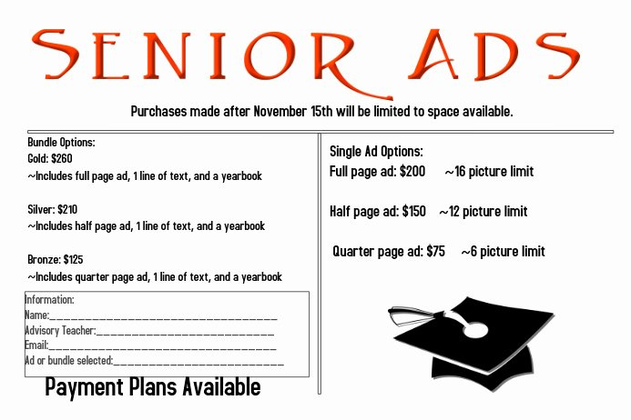 Yearbook order form Template New Senior Ad Flyer Template