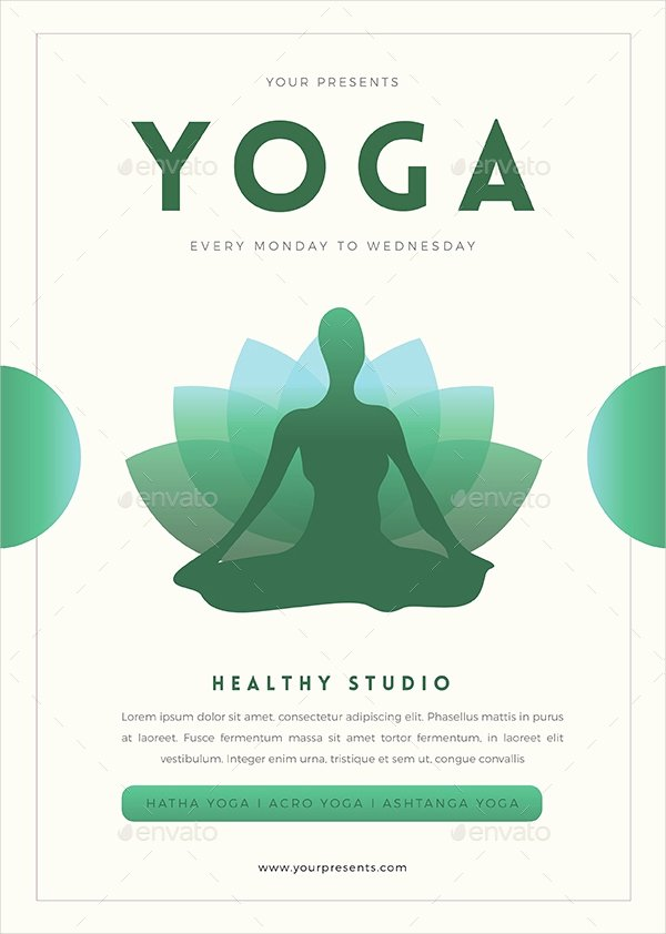 Yoga Flyer Template Free Awesome 25 Yoga Flyer Designs & Examples – Psd Ai Word Eps