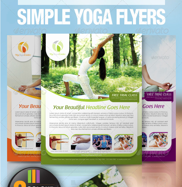 Yoga Flyer Template Free Awesome Yoga Newsletter Templates