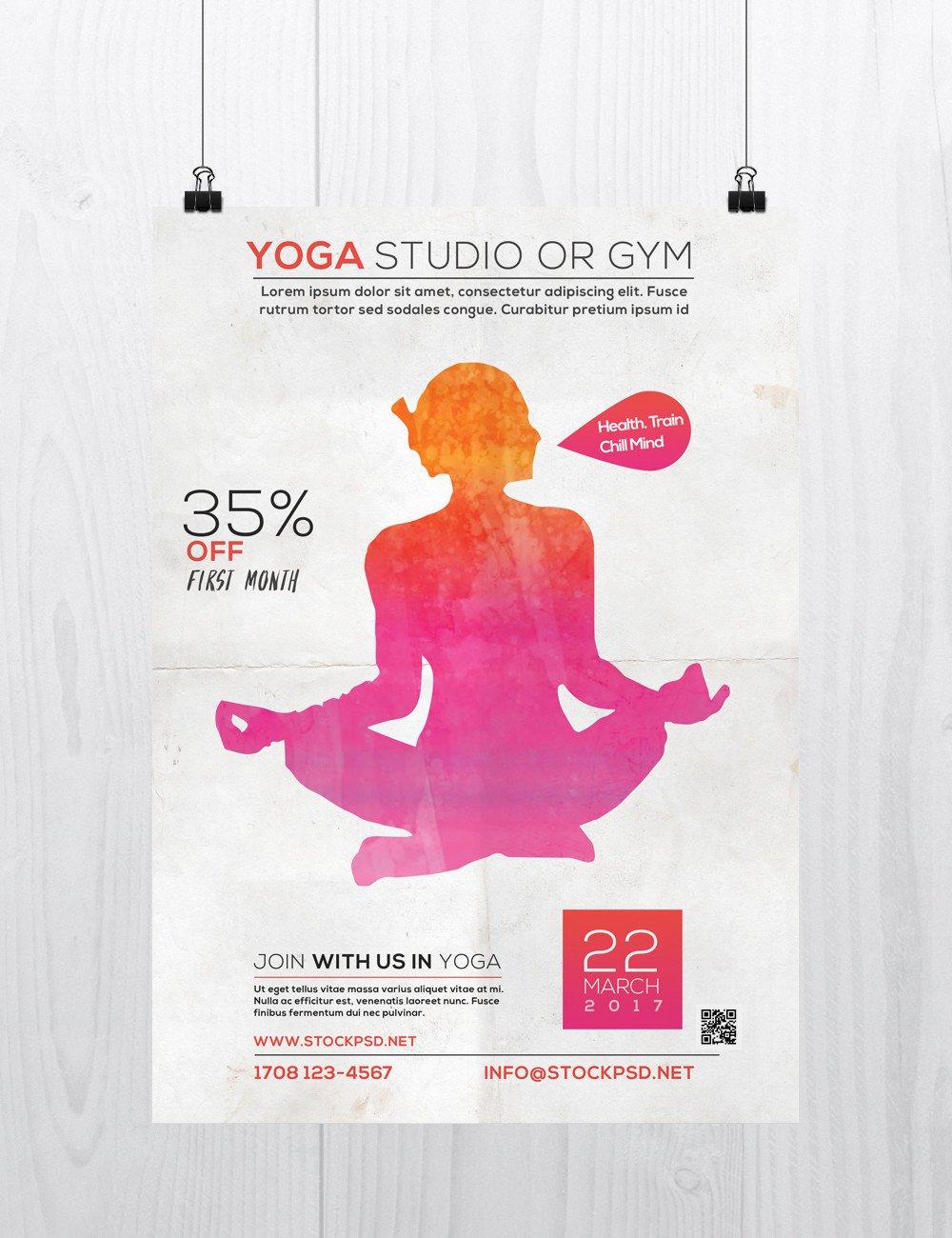 Yoga Flyer Template Free Beautiful Yoga Studio Free Psd Flyer Template Free Psd Flyer