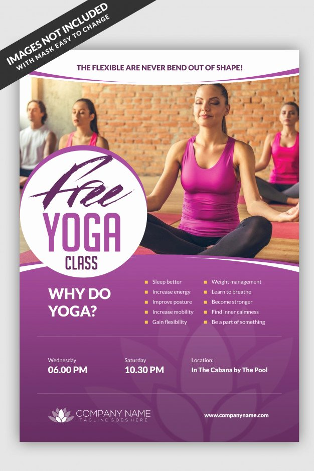 Yoga Flyer Template Free Best Of Yoga Class Flyer Template Psd File